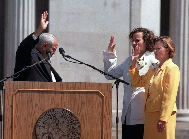 [WEBB] Caption: Performing the Swearing-In ceremony ...